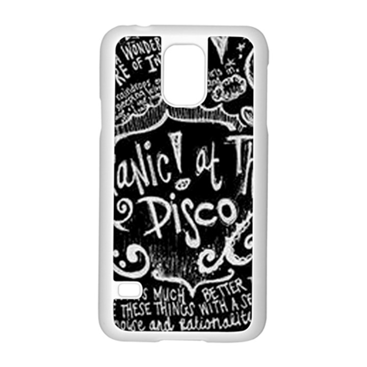 Panic ! At The Disco Lyric Quotes Samsung Galaxy S5 Case (White)