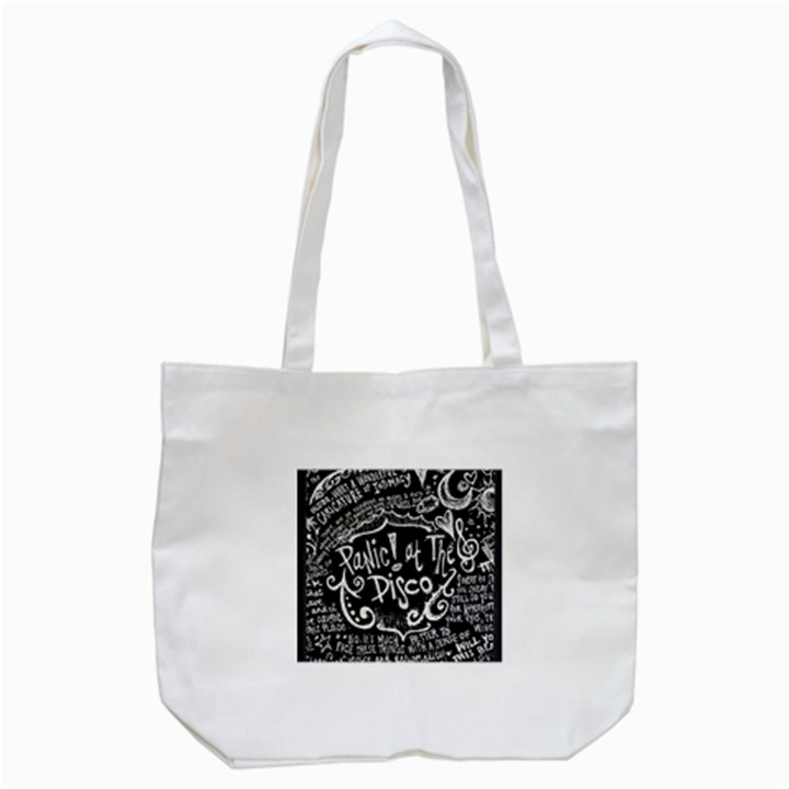 Panic ! At The Disco Lyric Quotes Tote Bag (White)