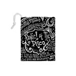 Panic ! At The Disco Lyric Quotes Drawstring Pouches (Small)  Back