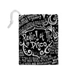 Panic ! At The Disco Lyric Quotes Drawstring Pouches (Medium)  Back