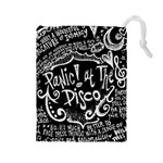 Panic ! At The Disco Lyric Quotes Drawstring Pouches (Large)  Front