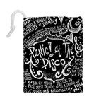 Panic ! At The Disco Lyric Quotes Drawstring Pouches (Large)  Back