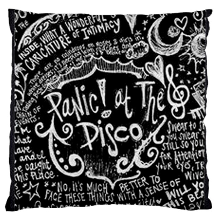 Panic ! At The Disco Lyric Quotes Large Flano Cushion Case (Two Sides)