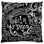Panic ! At The Disco Lyric Quotes Large Flano Cushion Case (Two Sides) Back