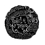 Panic ! At The Disco Lyric Quotes Standard 15  Premium Flano Round Cushions Back