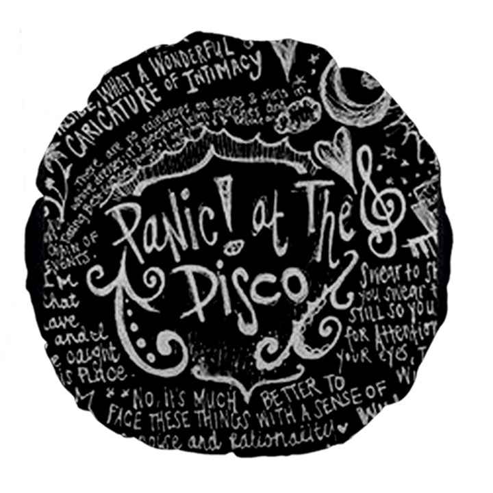 Panic ! At The Disco Lyric Quotes Large 18  Premium Flano Round Cushions