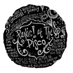 Panic ! At The Disco Lyric Quotes Large 18  Premium Flano Round Cushions Back