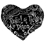 Panic ! At The Disco Lyric Quotes Large 19  Premium Flano Heart Shape Cushions Front