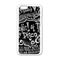 Panic ! At The Disco Lyric Quotes Apple iPhone 6/6S White Enamel Case