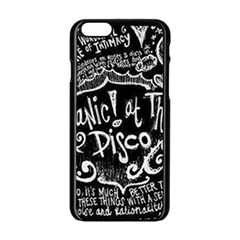 Panic ! At The Disco Lyric Quotes Apple iPhone 6/6S Black Enamel Case