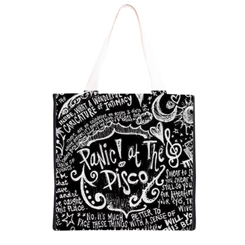Panic ! At The Disco Lyric Quotes Grocery Light Tote Bag