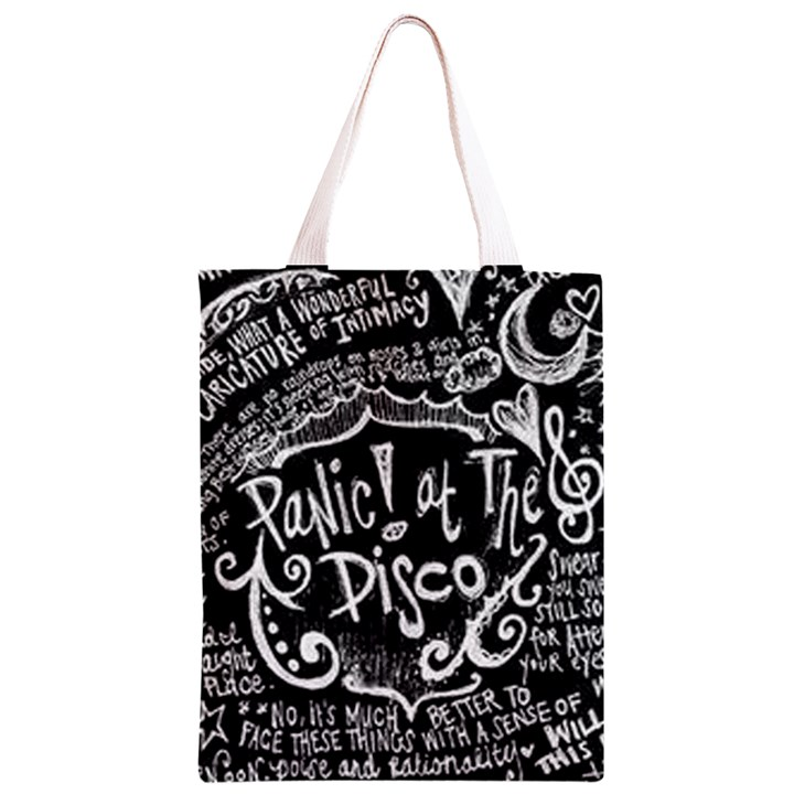 Panic ! At The Disco Lyric Quotes Classic Light Tote Bag