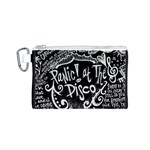Panic ! At The Disco Lyric Quotes Canvas Cosmetic Bag (S) Front