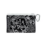 Panic ! At The Disco Lyric Quotes Canvas Cosmetic Bag (S) Back