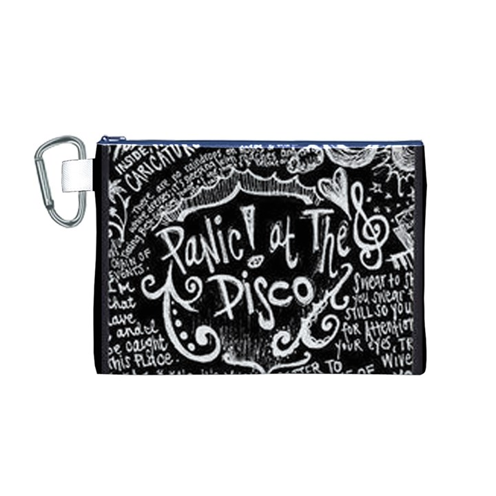 Panic ! At The Disco Lyric Quotes Canvas Cosmetic Bag (M)
