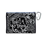 Panic ! At The Disco Lyric Quotes Canvas Cosmetic Bag (M) Back