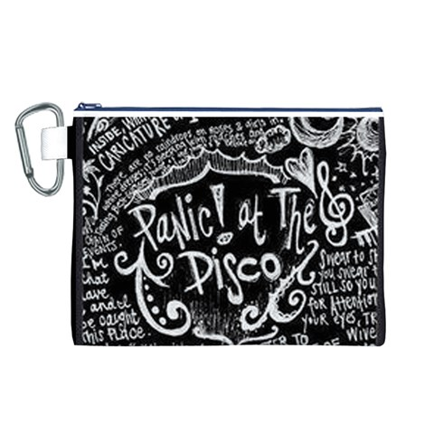 Panic ! At The Disco Lyric Quotes Canvas Cosmetic Bag (L)