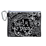 Panic ! At The Disco Lyric Quotes Canvas Cosmetic Bag (L) Front