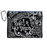Panic ! At The Disco Lyric Quotes Canvas Cosmetic Bag (XL) Front