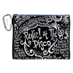 Panic ! At The Disco Lyric Quotes Canvas Cosmetic Bag (xxl)