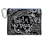 Panic ! At The Disco Lyric Quotes Canvas Cosmetic Bag (XXL) Front
