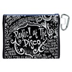Panic ! At The Disco Lyric Quotes Canvas Cosmetic Bag (XXL) Back
