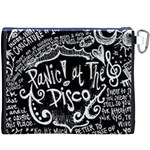 Panic ! At The Disco Lyric Quotes Canvas Cosmetic Bag (XXXL) Back