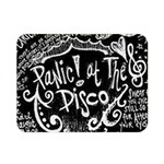 Panic ! At The Disco Lyric Quotes Double Sided Flano Blanket (Mini)  35 x27 Blanket Back