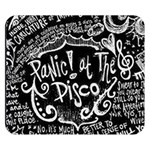 Panic ! At The Disco Lyric Quotes Double Sided Flano Blanket (Small)  50 x40 Blanket Back