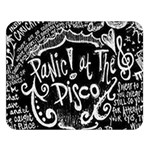 Panic ! At The Disco Lyric Quotes Double Sided Flano Blanket (Large)   Blanket Back