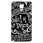 Panic ! At The Disco Lyric Quotes Galaxy Note 4 Back Case Front