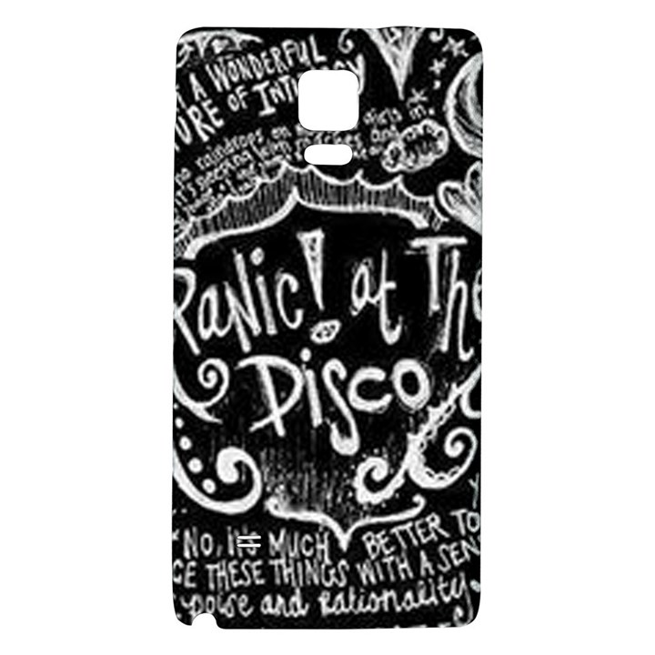 Panic ! At The Disco Lyric Quotes Galaxy Note 4 Back Case