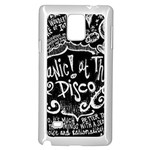 Panic ! At The Disco Lyric Quotes Samsung Galaxy Note 4 Case (White) Front