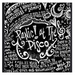 Panic ! At The Disco Lyric Quotes Large Satin Scarf (Square) Front