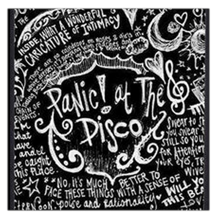 Panic ! At The Disco Lyric Quotes Large Satin Scarf (Square)