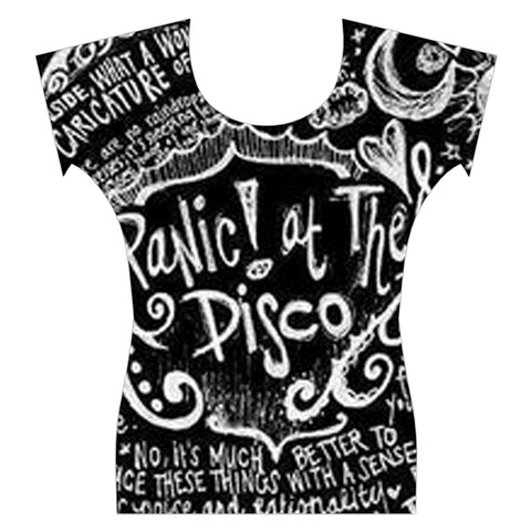 Panic ! At The Disco Lyric Quotes Women s Cap Sleeve Top