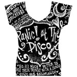 Panic ! At The Disco Lyric Quotes Women s V-Neck Cap Sleeve Top Front