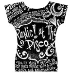 Panic ! At The Disco Lyric Quotes Women s V-Neck Cap Sleeve Top Back