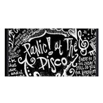 Panic ! At The Disco Lyric Quotes Satin Shawl Front