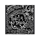 Panic ! At The Disco Lyric Quotes Small Satin Scarf (Square) Front