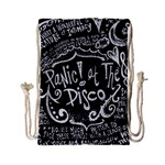 Panic ! At The Disco Lyric Quotes Drawstring Bag (Small) Back