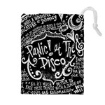 Panic ! At The Disco Lyric Quotes Drawstring Pouches (Extra Large) Front