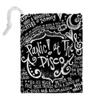 Panic ! At The Disco Lyric Quotes Drawstring Pouches (Extra Large) Back