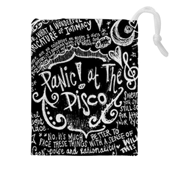 Panic ! At The Disco Lyric Quotes Drawstring Pouches (XXL)