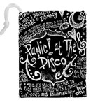 Panic ! At The Disco Lyric Quotes Drawstring Pouches (XXL) Back