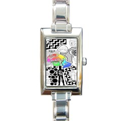 Panic ! At The Disco Rectangle Italian Charm Watch