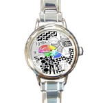 Panic ! At The Disco Round Italian Charm Watch Front