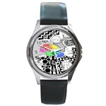 Panic ! At The Disco Round Metal Watch Front