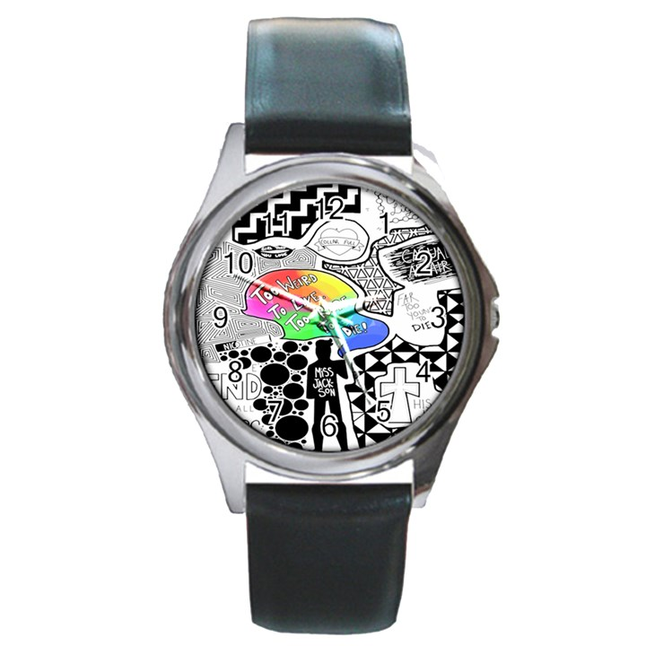 Panic ! At The Disco Round Metal Watch
