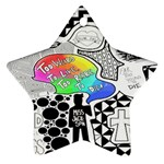 Panic ! At The Disco Ornament (Star)  Front